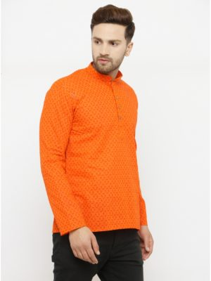 Rect Orange Kurta