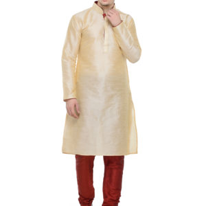 kurta set light gold