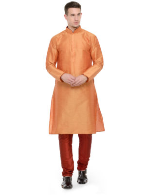 kurta set orange